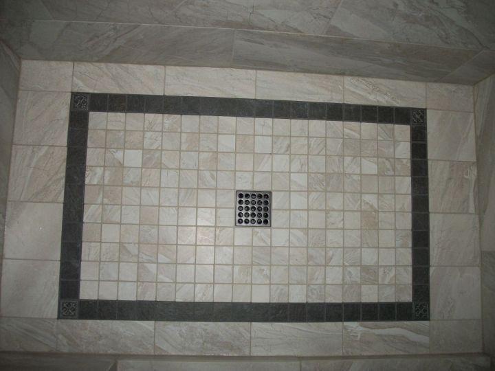 Offset Floor Tile Pattern >> Gray Rectangle Tile Shower • N Koehn Tile • El Campo, TX