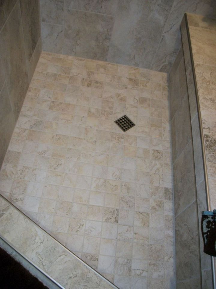 Mosaic Tile On Shower Floor