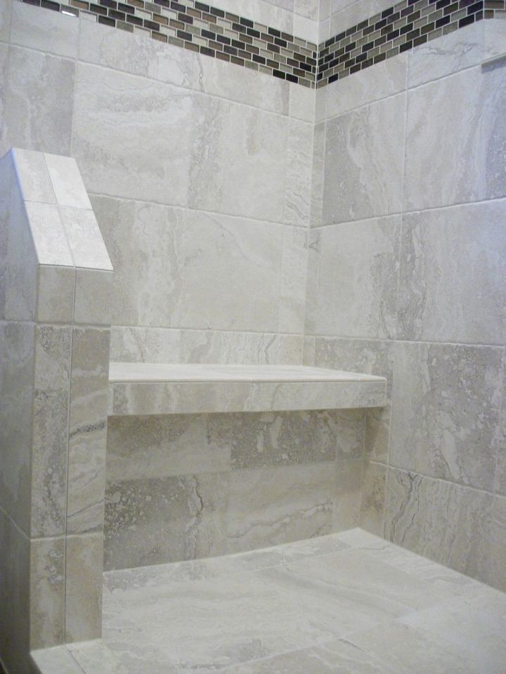 White Porcelain Tile Shower N Koehn El Campo Tx
