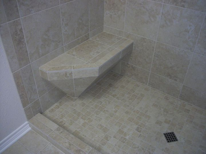 Tile Shower With Accent Diamond N Koehn Tile El Campo Tx