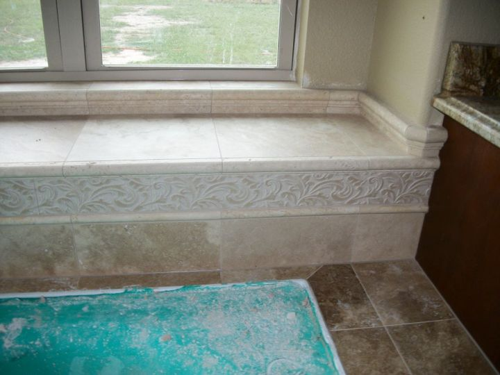 Travertine Tile Corner Garden Tub N Koehn Tile El Campo TX