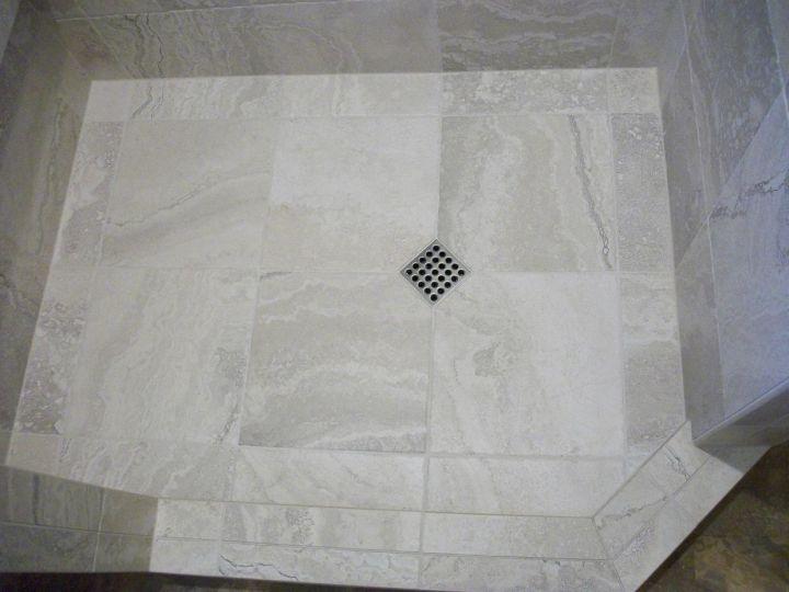White Porcelain Tile Shower N Koehn Tile El Campo Tx